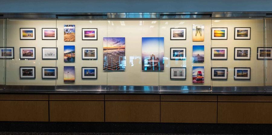 Gulfport-Biloxi Airport Art Display