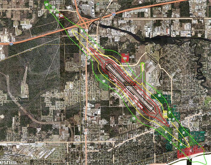 Gulfport-Biloxi Airport Aerial Map