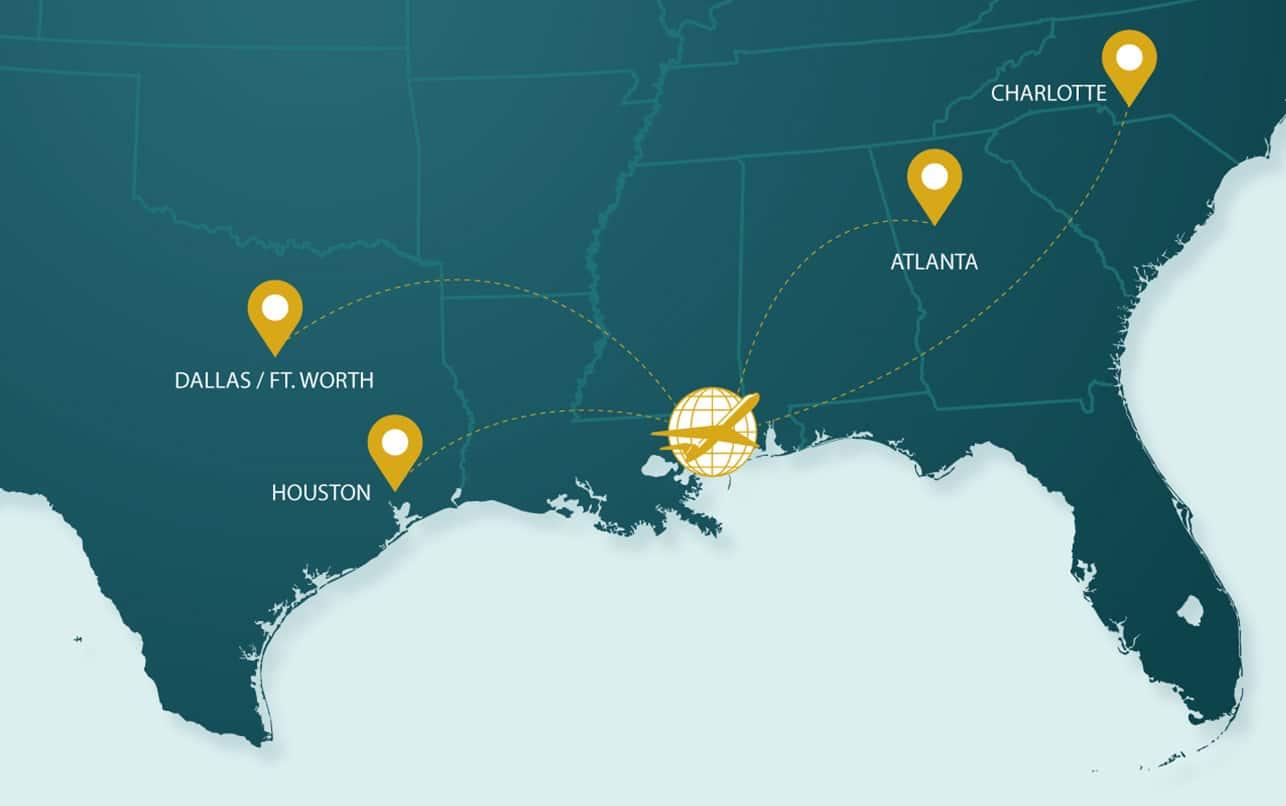 Flight Map - Gulfport–Biloxi International Airport - Fly GPT