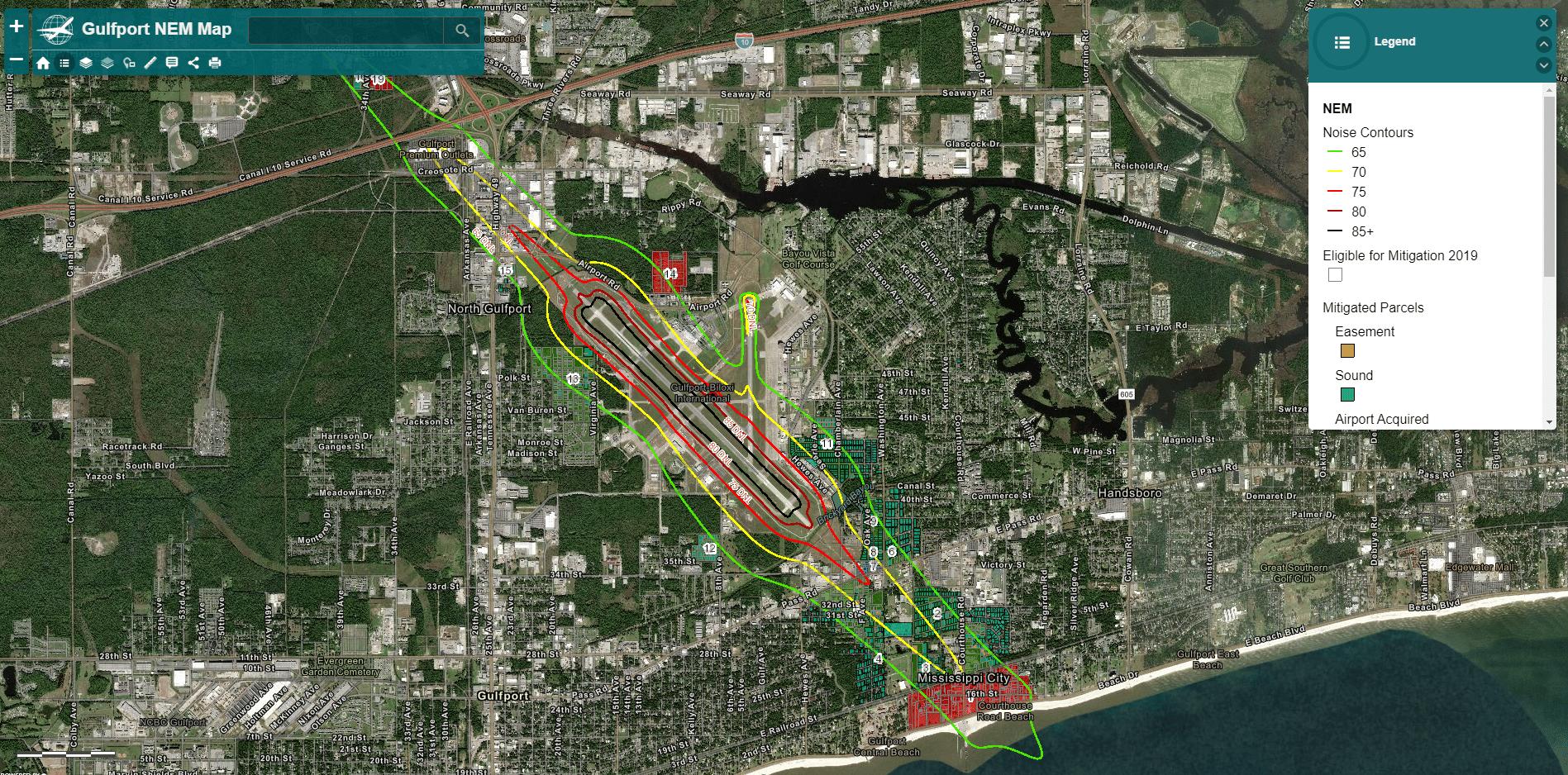 Noise Mitigation Contour Map